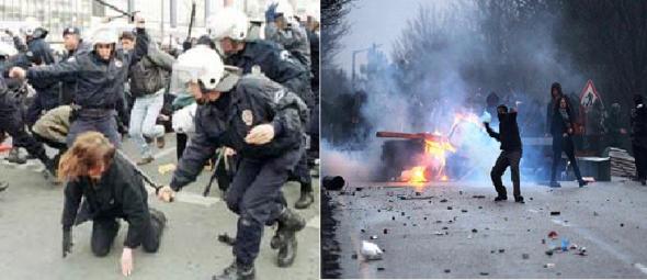 polis-eylemci